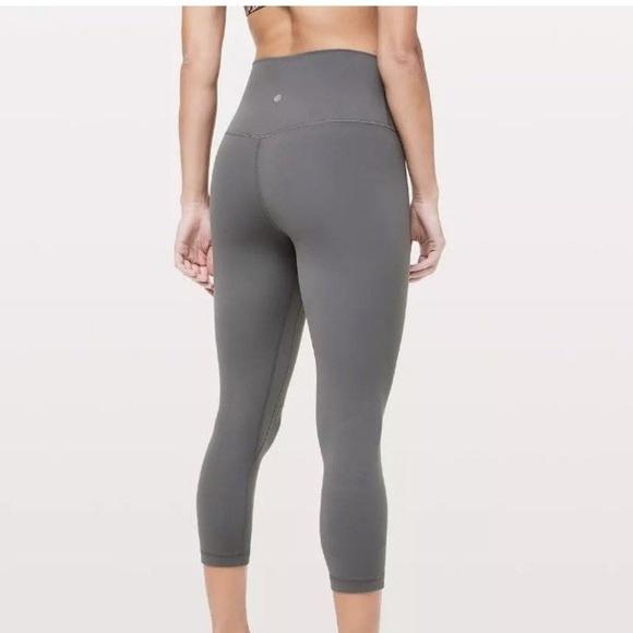 54bf672239 lululemon athletica Pants - Lululemon Align Crop Titanium Carbon Gray size 4